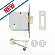 "Union 3 Lever Deadlock Satin Chrome 3"" / 77.5mm"