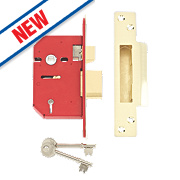 "Union 5-Lever Mortice Sashlock Brass 2½"" / 68mm"