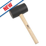 Forge Steel Ash Wood Handle Black Rubber Mallet 32oz
