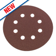 Flexovit Sanding Discs Punched 125mm 80 Grit Pack of 6