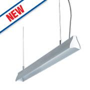 Luceco Suspended LED Pendant Light Anodised Aluminium 1190mm 18.5W