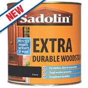 Sadolin Extra Durable Woodstain Translucent Semi-Gloss Ebony 1Ltr