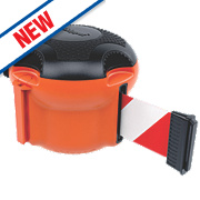 Skipper XS Retractable Barrier Orange with Red/White Tape