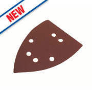 Flexovit Corner Sanding Triangles Punched 145mm 120 Grit Pack of 6
