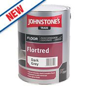 Johnstones Semi-Gloss Floor Paint Dark Grey 5Ltr