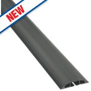 D-Line Multi Cable Cover Light Duty Black 1.8m