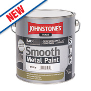 Johnstones Smooth Metal Paint White 2.5Ltr