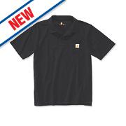 "Carhartt K570 Work Pocket Polo Shirt Black X Large "" Chest"