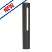 Brilliant Twin Textured Black LED Post Light 260Lm 5W