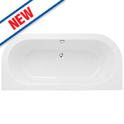 Supercast D-Shape Twin-Ended Bath Acrylic No Tap Holes 1710mm