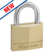 Master Lock Brass Padlock 40mm