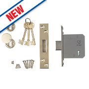 "Smith & Locke Easi-T BS 5-Lever Mortice Deadlock Satin SS 3""/76mm"