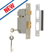 "Union 3 Lever Sashlock Satin Chrome "" / mm"