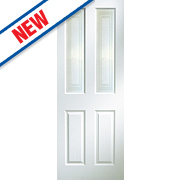 Jeld-Wen Oakfield 4-Panel Glazed Interior Door Primed 1981 x 762mm
