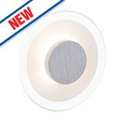 Brilliant Budapest Round LED Wall Light Satin Chrome 5W 240V