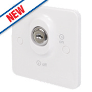 Schneider Electric 20AX Double Pole 1-Gang 1-Way Lockable Switch White