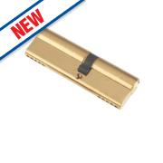 Century 5-Pin Euro Double Cylinder Lock 35-50 (85mm) Brass