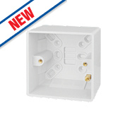 Schneider Electric 1-Gang Surface Pattress Box White 40mm