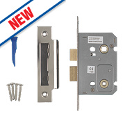 Smith & Locke Bathroom Mortice Lock Polished Chrome 65 x 22mm