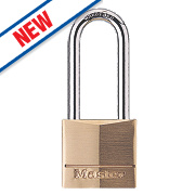 Master Lock Solid Brass Long Shackle Padlock 40mm