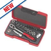 """Teng Tools ¼"""" Drive Socket Set 36Pcs"""