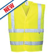 "Portwest Hi-Vis Flame Retardant Vest Yellow Small / Medium 41"" Chest"