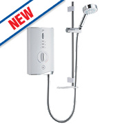 Mira Sport Max with Airboost Manual Electric Shower White/Chrome 9kW