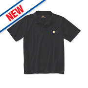 "Carhartt K570 Work Pocket Polo Shirt Black Large "" Chest"