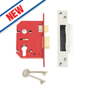 Union Euro Profile Mortice Sashlock Stainless Steel 3