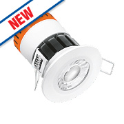 Enlite Fire Rated Fixed E8 LED Downlight IP65 White 8W