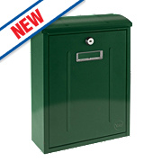 Yale Maryland Post Box Green Satin Steel