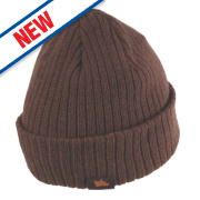 Hyena Arctic Wool Beanie Hat Brown