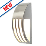 Convex Brushed Stainless Steel Wall Light 40W
