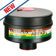 JSP Force 12 DIN Thread Filter Cannisters ABEK2 Pack of 2