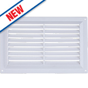 Map Vent Gas Louvre Vent White 152 x 229mm