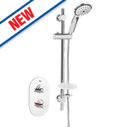 Bristan Artisan Thermostatic Dual Control Mixer Shower Built-In/Exposed Chrome