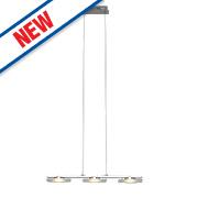 Arlena 3-Light LED Pendant Light Chrome 18W