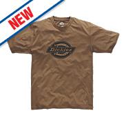 "Dickies Woodson T-Shirt Khaki X Large 44-46"" Chest"