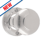 Carlisle Brass Rimmed Mortice Knobs Pair Polished Chrome 52mm
