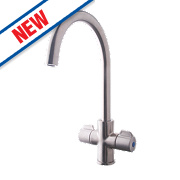 Swirl Mono Mixer Kitchen Tap Silk Steel