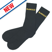 DeWalt Work Socks Black Size 6-12 Pack of 3 Pairs