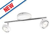 Philips Sepia 2-Light LED Ceiling Spotlight Matt White
