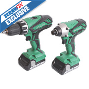Hitachi KC18DGL/JA 18V 1.5Ah Li-Ion Twin Pack Combi Drill & Impact Driver