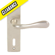 Urfic Victoria Lock Door Handle Pair Satin Nickel