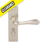 Urfic Victoria WC Door Handle Pair Satin Nickel