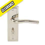 Urfic Nevada WC Door Handle Pair Polished Nickel