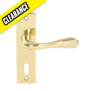 Urfic Victoria Lock Door Handle Pair Polished Brass