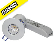 Robus Fire Rated Fixed LED Downlight IP44 White 9W