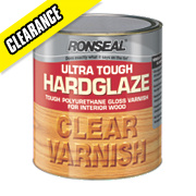 Ronseal Ultra Tough Hard Glaze Varnish Hard Glaze Clear 2.5Ltr