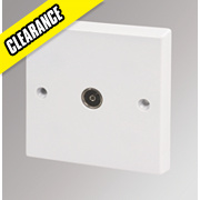 Volex TV Socket Moulded White